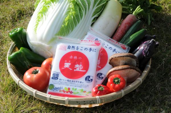 『赤穂』で作ったにがりを含んだおいしい粗塩煮物・焼き物などお料理全般に!